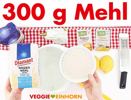 300 Gramm Mehl