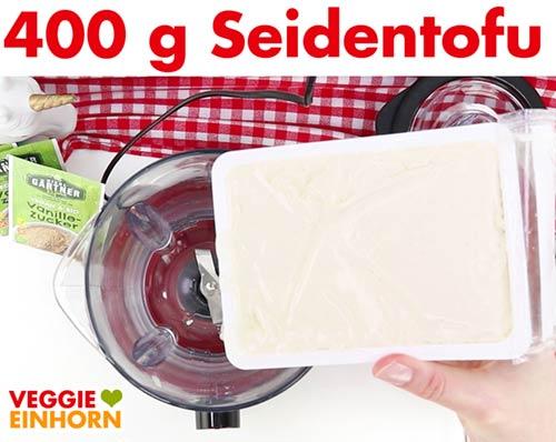 400 g Seidentofu in den Mixer geben