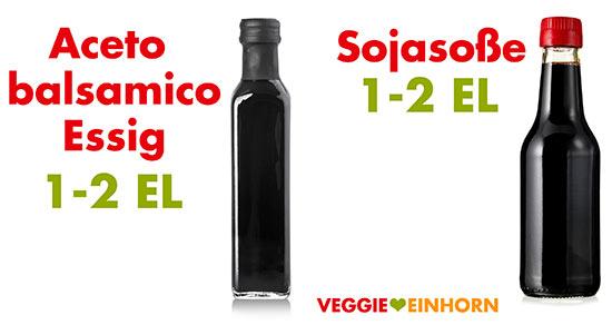 Aceto balsamico Essig und Sojasoße