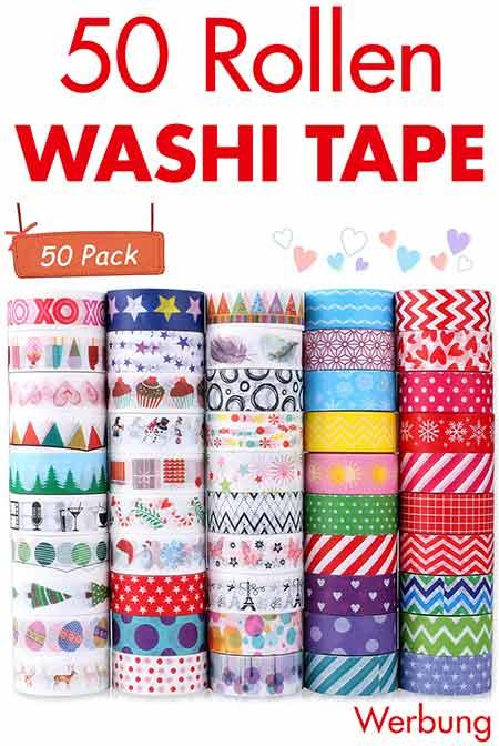 50 Rollen Washi Tape