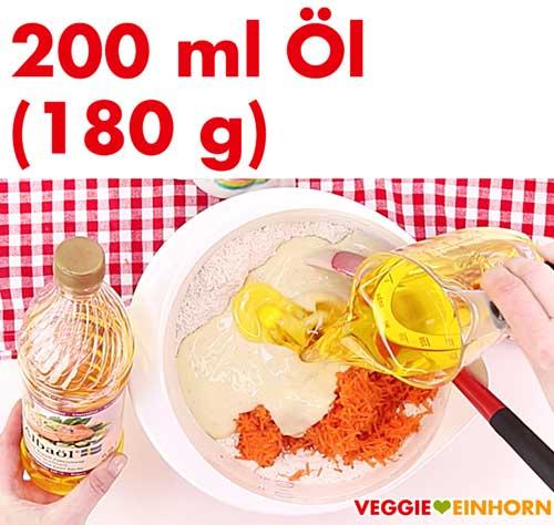 Albaöl mit Buttergeschmack für veganen Karottenkuchen