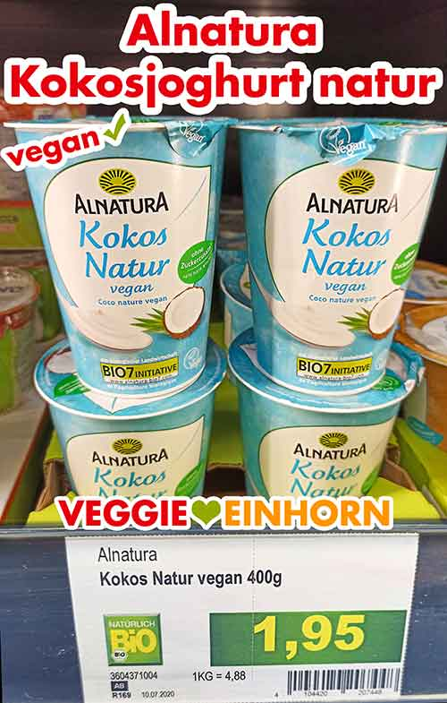 Alnatura Kokos Joghurt im Kühlregal bei Edeka