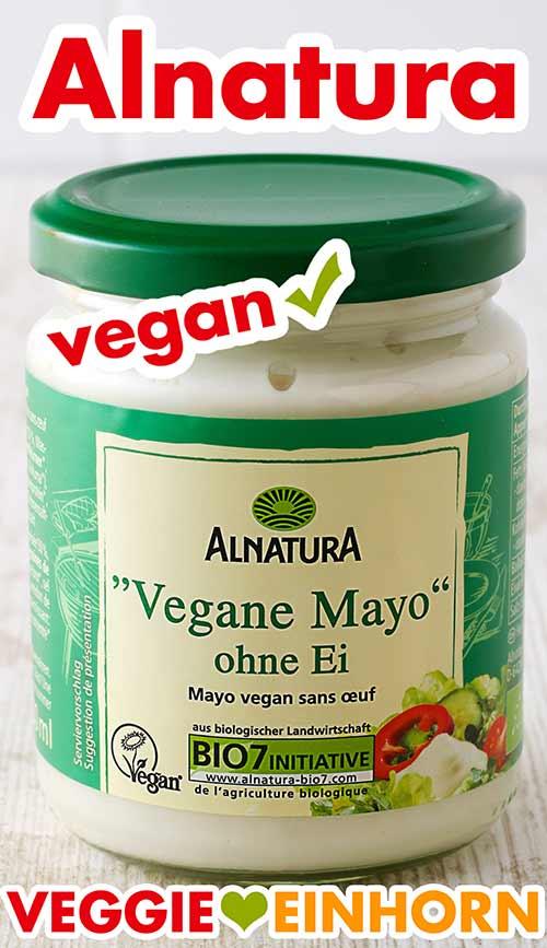 Ein Glas Vegane Mayo ohne Ei von Alnatura