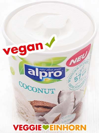 Ein Becher Alpro Coconut Eis