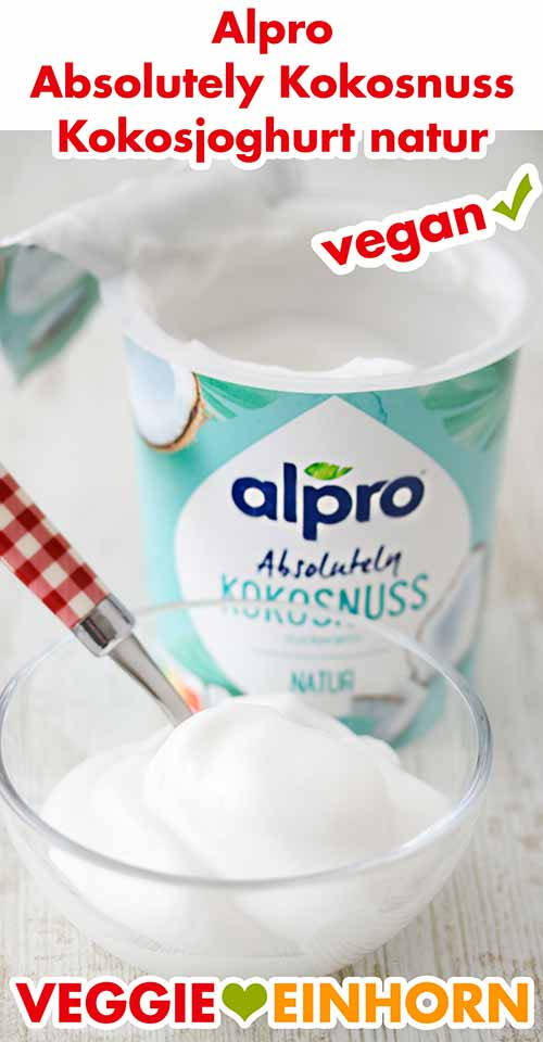 Ein Schälchen mit Alpro Kokos Joghurt