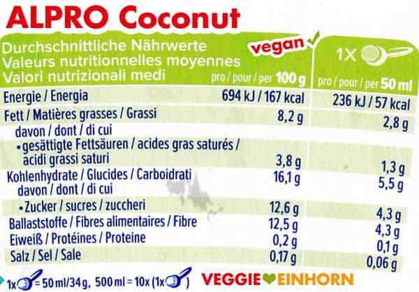 Nährwerte Alpro Coconut Eis