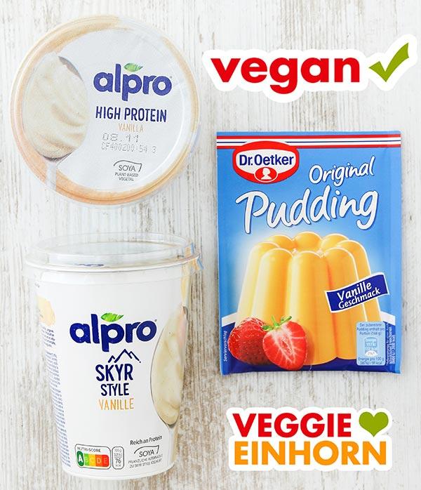 Alpro Skyr Style Vanille und Vanillepuddingpulver