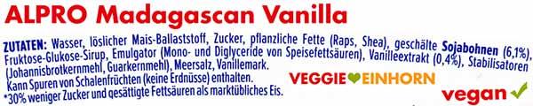 Zutaten Alpro Vanille Eis