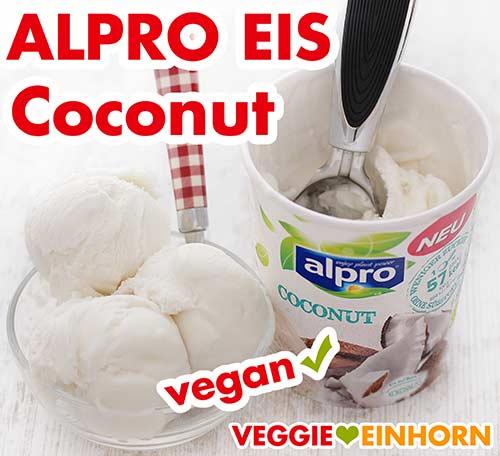 Veganes Kokos Eis von Alpro