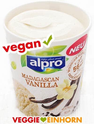 Alpro veganes Vanilleeis