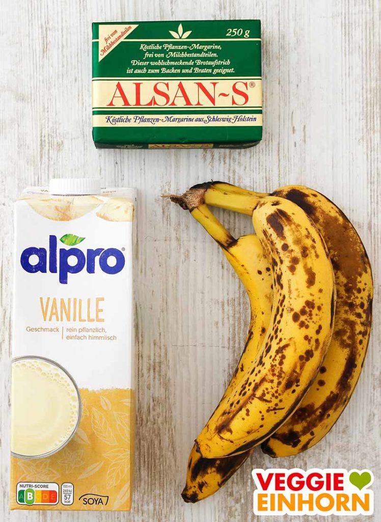 Alsan-S Margarine, Vanille Sojamilch, reife Bananen