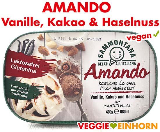 Amando Eis Vanille, Kakao und Haselnuss