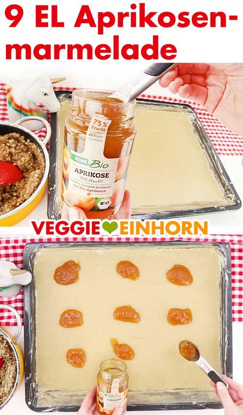 Aprikosenmarmelade für vegane Nussecken