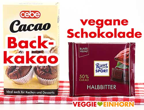 Backkakao und vegane Schokolade
