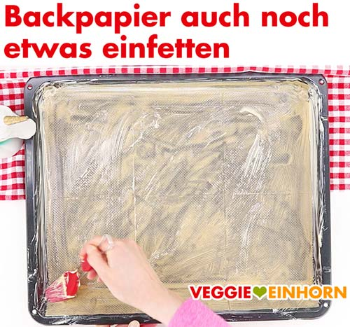 Backpapier einfetten