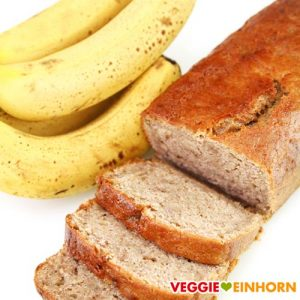 Saftiges Bananenbrot vegan | Einfaches Rezept