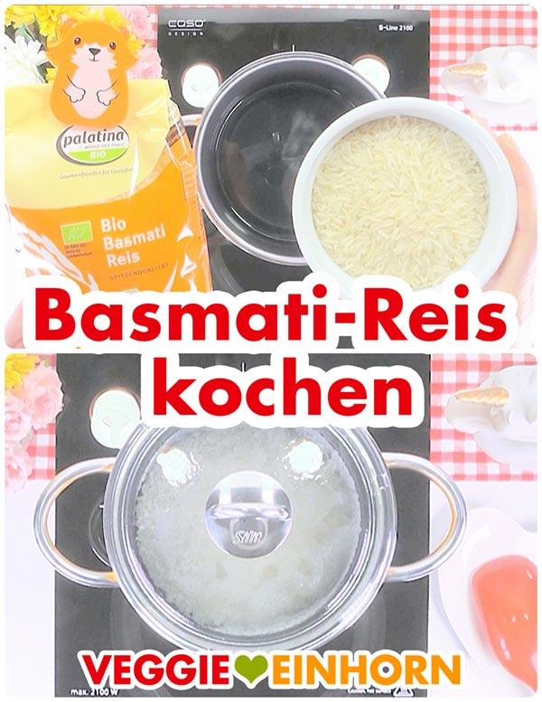 Basmatireis kochen | Schnelles veganes Curry mit Reis | Vegane Rezepte deutsch schnell #VeggieEinhorn