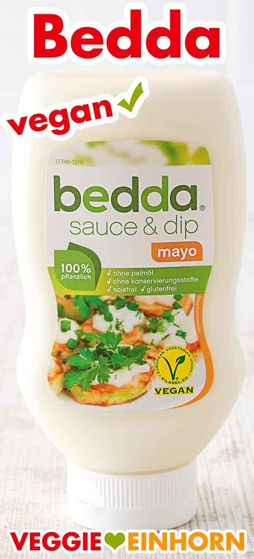 Eine Flasche Vegane Mayo von Bedda