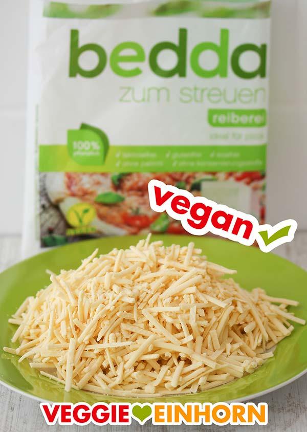 Veganer geriebener Käse von bedda