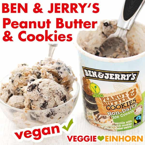 Ben & Jerry's Peanut Butter & Cookies vegan