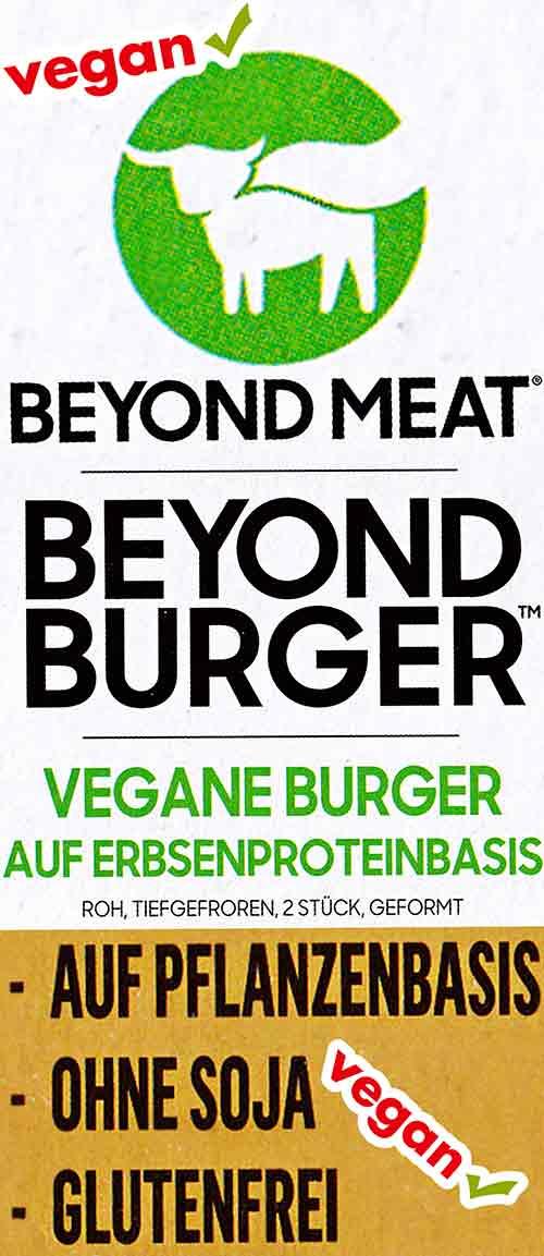 Text von der Verpackung des Beyond Burgers
