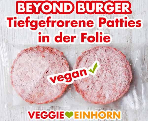Zwei tiefgefrorene Burger Patties von Beyond Meat