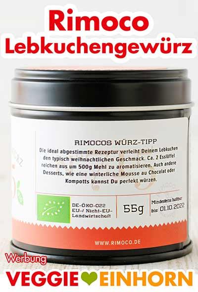 Eine Dose Rimoco Bio Lebkuchengewürz