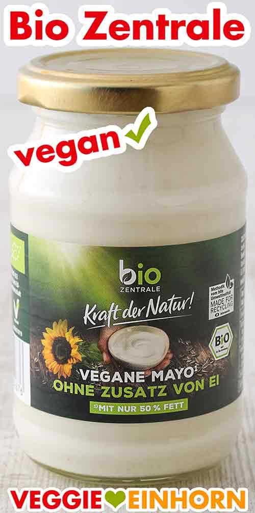 Ein Glas vegane Mayonnaise von Bio Zentrale