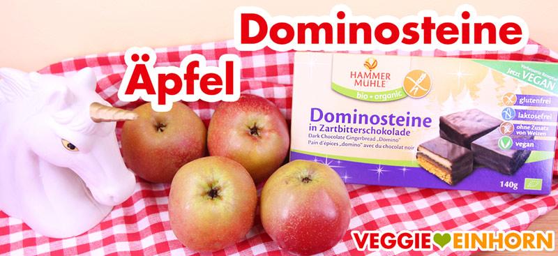 Äpfel und vegane Dominosteine für Bratäpfel