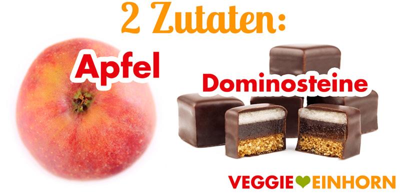 Apfel und Dominosteine