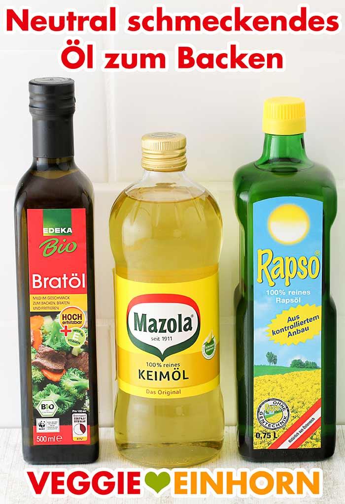 Edeka Bratöl, Mazola Keimöl und Rapso Rapsöl