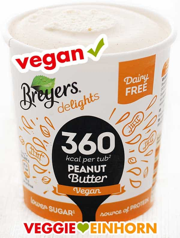 Ein Becher Breyers Delights Peanut Butter