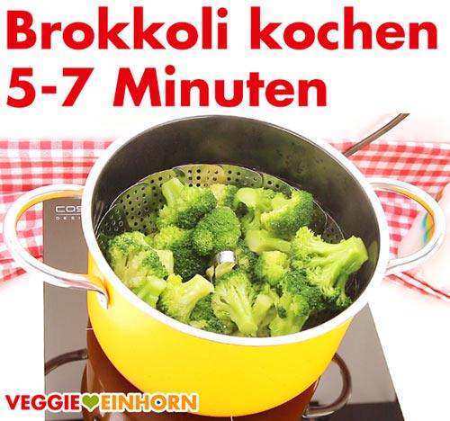 Brokkoli kochen.