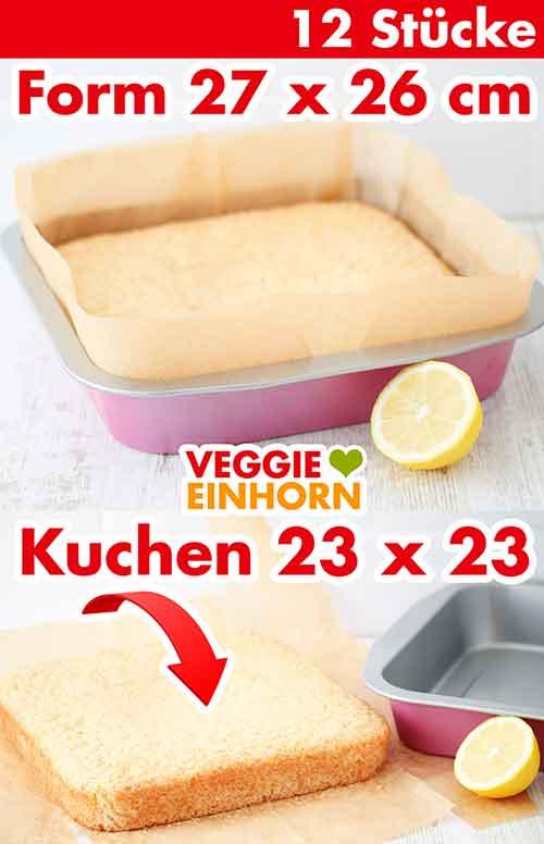 Eine Brownie Backform mit Zitronenblechkuchen
