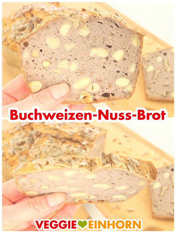 glutenfreies buchweizenbrot mit n ssen gesundes brot backen mit video. Black Bedroom Furniture Sets. Home Design Ideas