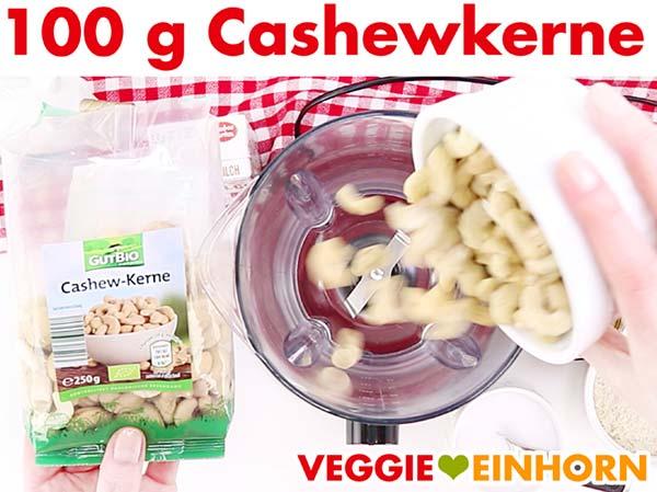 Cashewkerne für vegane Sahnesoße