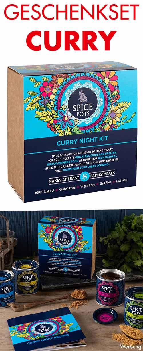 Geschenkbox mit Curry Gewürzen