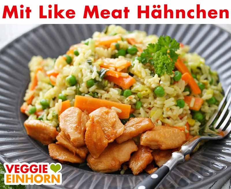 Curry Reis Pfanne mit Like Meat Hähnchen