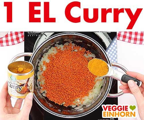 Currypulver zufügen
