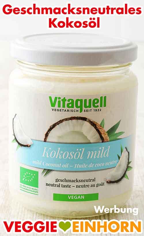 Ein Glas geschmacksneutrales desodoriertes Kokosöl