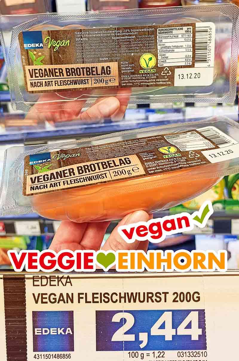 Edeka Vegane Fleischwurst im Supermarkt