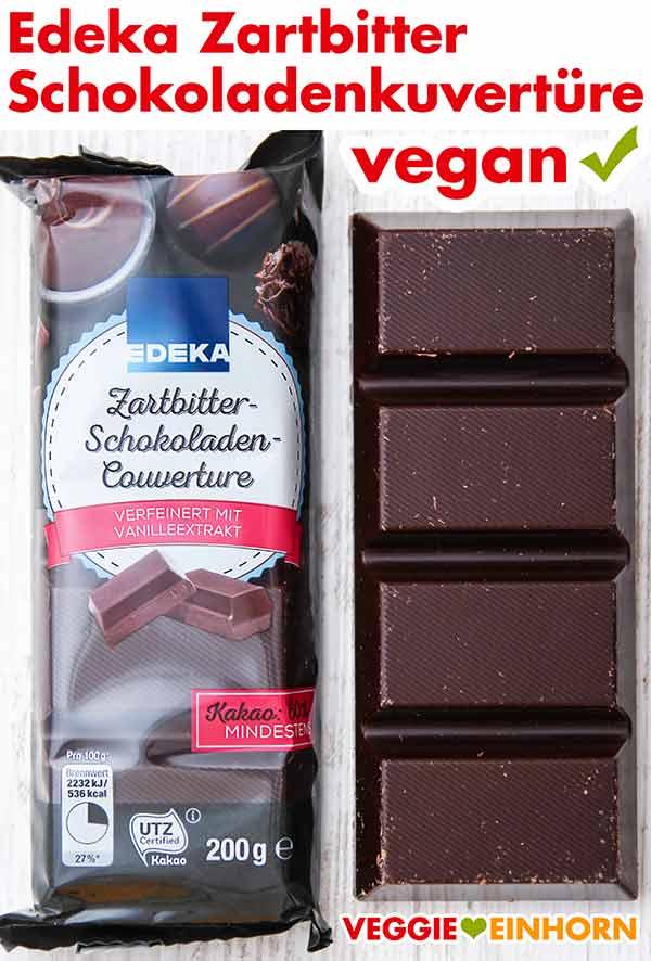 Eine Packung Edeka Zartbitter Schokoladenkuvertüre
