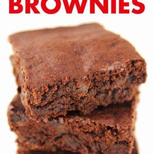 Einfache vegane Brownies Pinterest