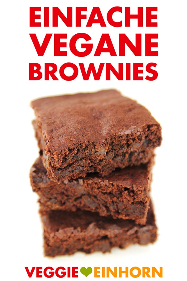 Einfache vegane Brownies backen