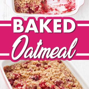 Einfaches Baked Oatmeal mit Himbeeren