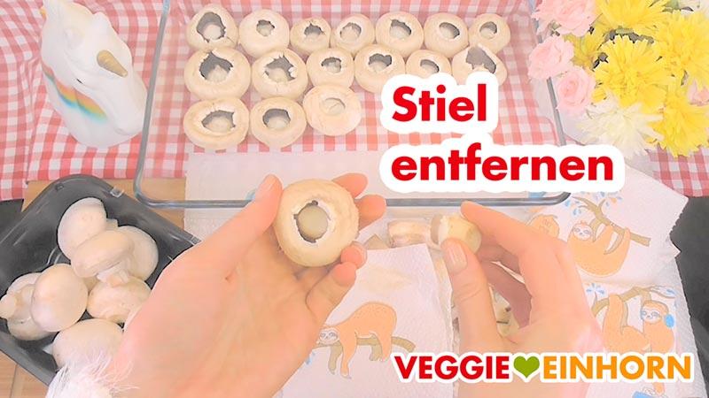Vegane GEFÜLLTE CHAMPIGNONS | Einfaches leckeres Party Rezept | VEGANE gefüllte Pilze | Rezept mit Schritt-für-Schritt Foto-Anleitung und VIDEO