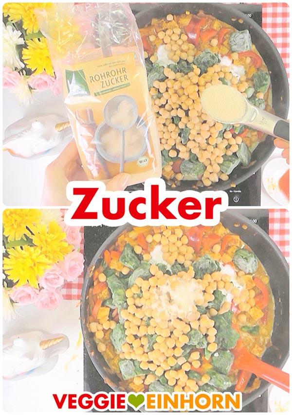 Schnelles veganes Curry mit Kichererbsen und Spinat | Gesund Vegan kochen zum Mittag oder Abendessen | Vegane Rezepte deutsch #VeggieEinhorn