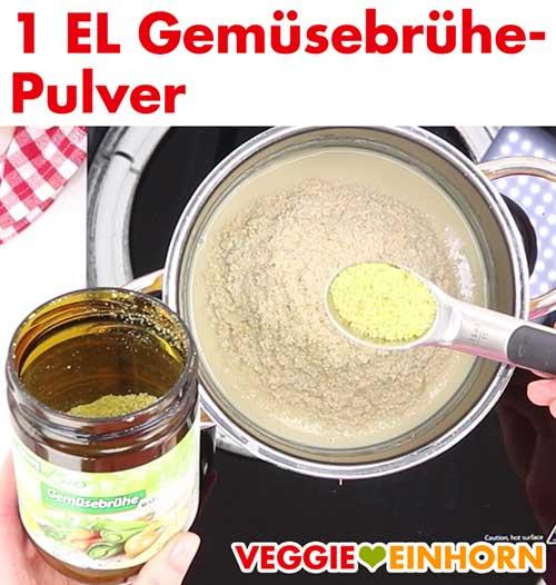 Veganes Gemüsebrühe Pulver für Hefeschmelz