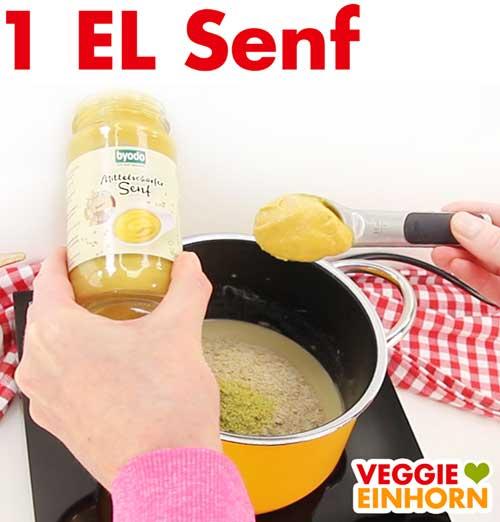 Veganer Senf für Hefeschmelz