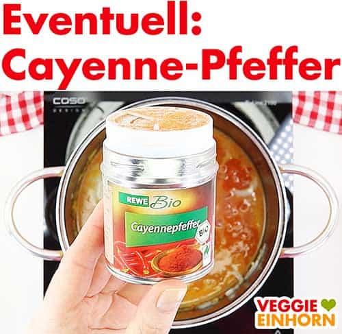 Eine Dose Cayennepfeffer